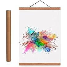 "Benjia 22x34 22x28 Poster Frame, Magnetic Light Wood Frame Hanger for Photo Picutre Canvas Artwork Art print Wall Hanging (2 Packs, 22"")"