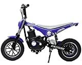 Burromax TT350R Electric Mini Bike 350W Lithium Battery Powered Motocross Scooter, Blue