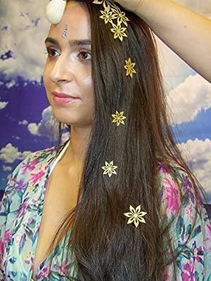 Cabello y Cuerpo Tatuaje Temporal joyas en relieve stickon diseños ...