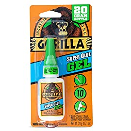 Gorilla Super Glue Gel 100 No run control gel formula; great for use on vertical surfaces Anti clog cap: keeps glue from drying out, its Gorilla tough use after use Impact tough: unique rubber particles increase impact resistance and strength