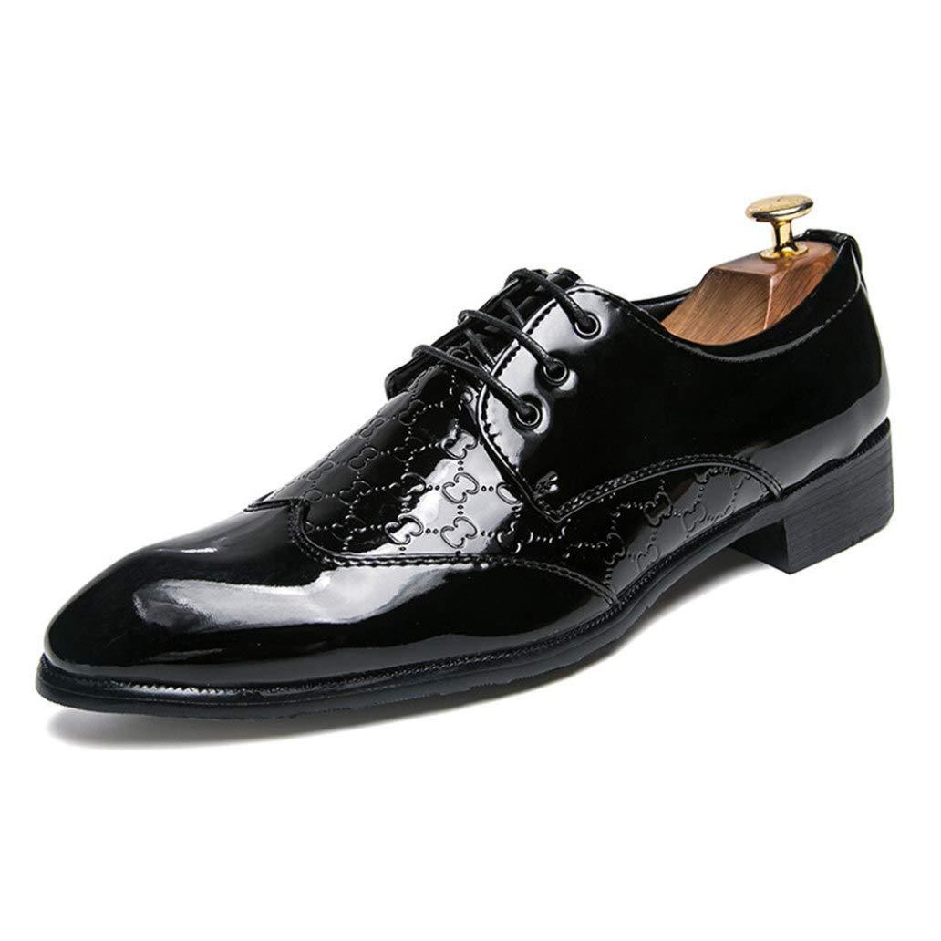 Zapatos de Vestir para Hombres Zapatos de Negocios de Cuero de Moda Zapatos de Oficina con Cordones Traje Zapatos de Fiesta de Bodas