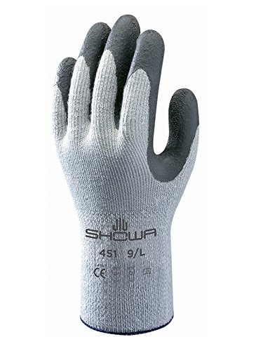 Showa Gloves SHO451-M No.451 Thermo Grip Glove, Size: M, Grey/Dark Grey