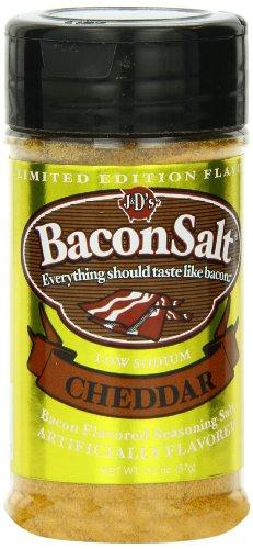 J&D's Bacon Salt, Cheddar, 2.5 Ounce (Pack of 3)