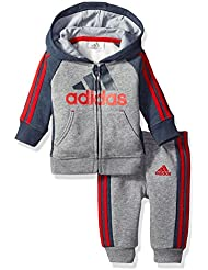 adidas Baby Boys' Zip Up Hoodie Active Set