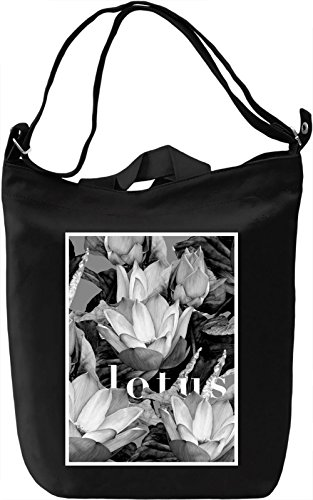 Lotus Borsa Giornaliera Canvas Canvas Day Bag| 100% Premium Cotton Canvas| DTG Printing|