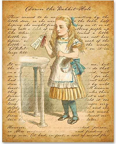 Alice in Wonderland - Drink Me - 11x14 Unframed Alice in Wonderland Print