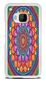 Lotus Rainbow Mandala White Hardshell Case for HTC One M9