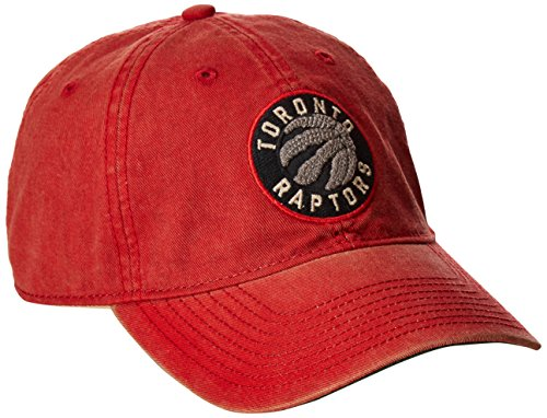 fan products of NBA Toronto Raptors Men's Raised Chain Stitch Adjustable Slouch Hat, Red, One Size