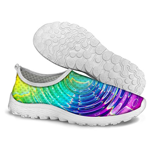 Running Colorful Print Mesh Green Shoes Women's DESIGNS Walking B U Stripe Comfortable FOR OBzSxq