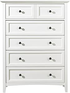 Modus Furniture 4NA484 Paragon Five-Drawer Chest, White