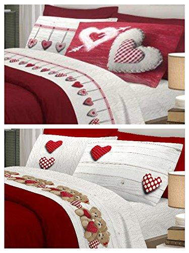 Offerta di San Valentino !! 2 Completi lenzuola MATRIMONIALI ...