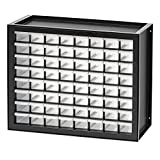 IRIS USA, Inc.. Dpc-64 64 Drawer Parts Cabinet, Black