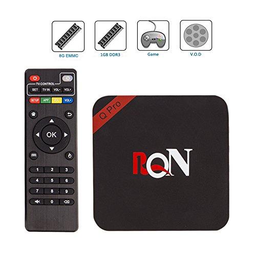 RQN Q Pro Android 5.1 Tv Box RK3229 1080p Quad Core Smart Streaming Media Player, IPTV,OTT TV ,Root,4k, H.265 (Android Xbmc Tv Box compare prices)
