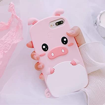 Amazon.com Htao 3D Cartoon Cute QQ Pig Phone case for