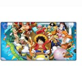 Cartoon Anime One Piece Large Gaming Mouse Pad Table Pad Mouse Mat Rectangle Gaming Mouse Pad Non-Slip Mouse Mat (B, 100600.3cm/39.323.60.1 inch)