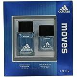 Adidas Fragrance 2 Piece Set Moves for Him 1 oz Eau de Toilette Spray + 0.5 oz Eau de Toilette Spray