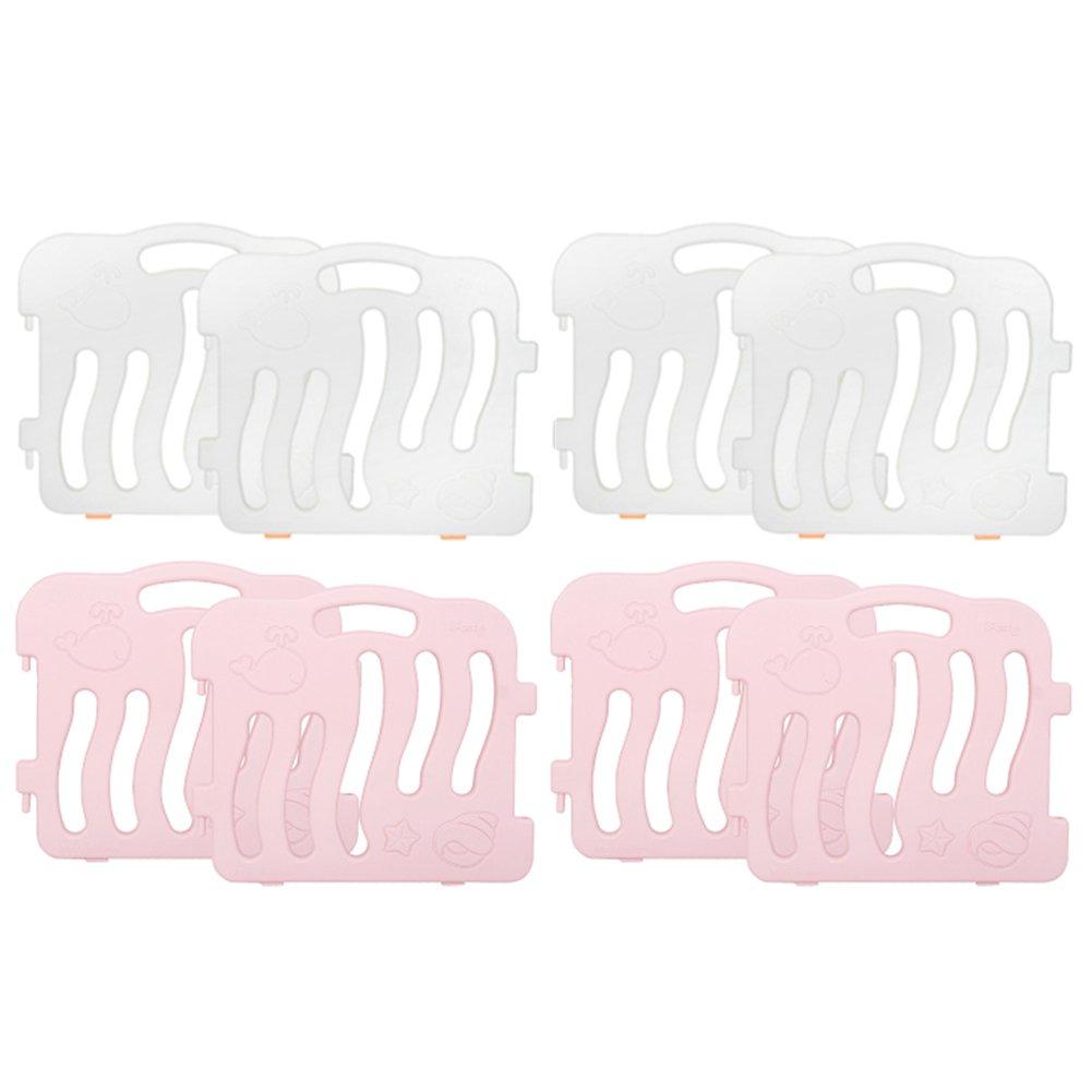 [IFam] シェルベビールーム 8ps(1セット)/ 4つのカラー / ベッドガードフェンス / 室内フェンス [並行輸入品] (ピンク + ホワイト) B077JZ9892 ピンク + ホワイト ピンク + ホワイト