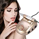 30000RPM Nail Drill Machine, Professional Electric Drilling File Manicure Pedicure Set Kit for Gel Art Polisher Sets Glazing Fast Polishing Instrument with Low Heat Noise