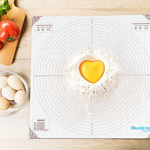 20x20 inch Large Silicone Pastry Mat, Measurements Non-stick Sheet Baking Mat For Countertop Rolling Dough