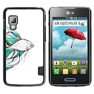 For LG Optimus L5 II Dual E455 E460 Case , Koi Pond Japan Minimalism Nature - Diseño Patrón Teléfono Caso Cubierta Case Bumper Duro Protección Case Cover Funda