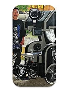 Galaxy S4 Case Cover - Slim Fit Tpu Protector Shock Absorbent Case (oaklandaiders Ustom Lowrider )