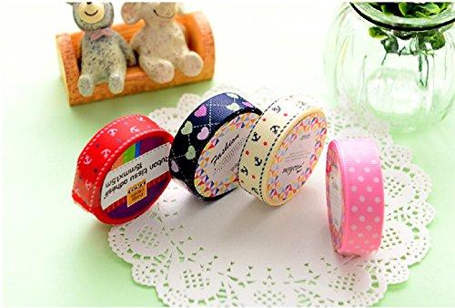 Funnylive® 13 Colors DIY Cloth Tape Decorative Scrapbook Tap DIY Masking Cloth Sticky Adhesive Sticker,4 Pcs(5800 mm (5800 Labels)