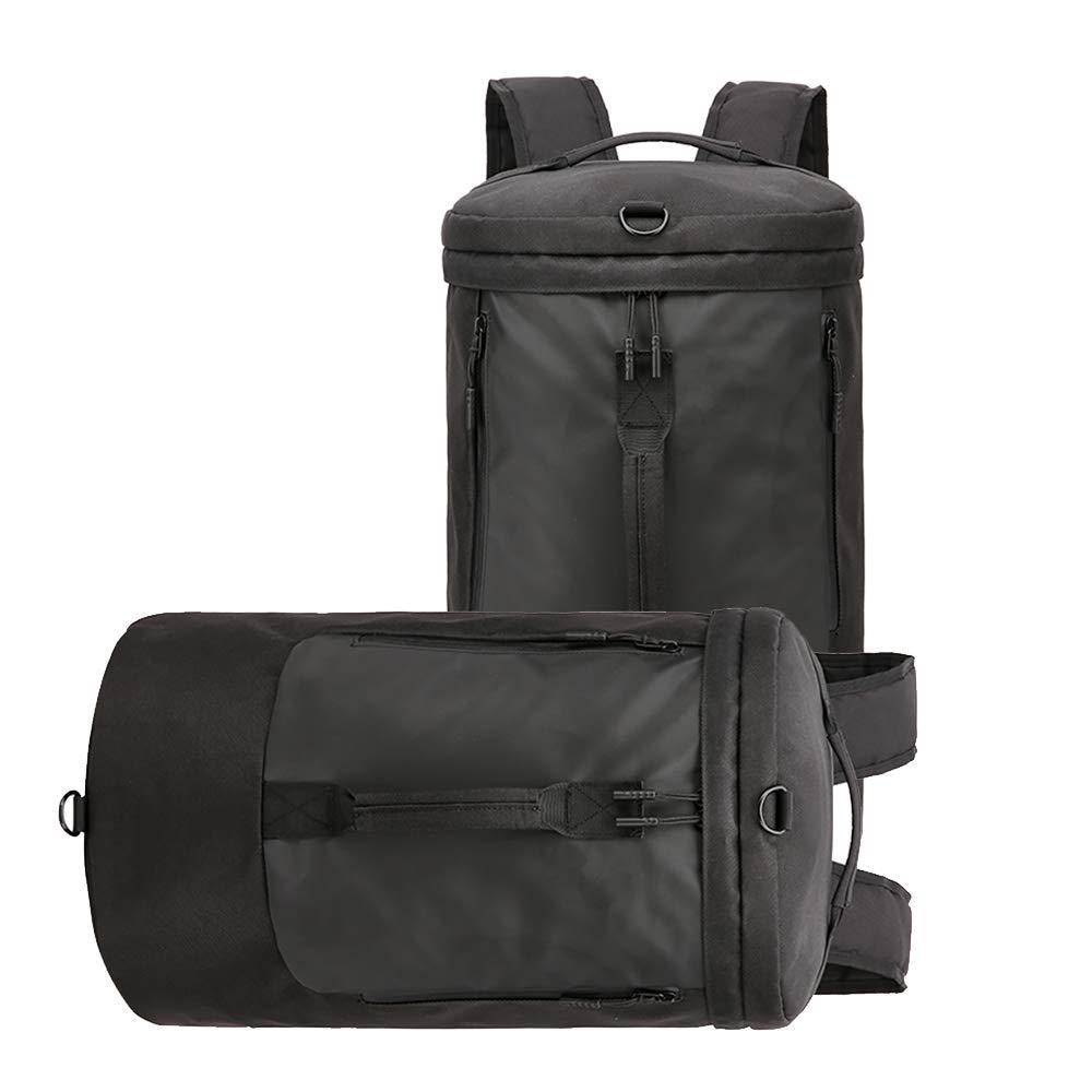 ZSTVIVA キャンバス トラベルバッグ 防水 多機能 大容量 ポータブル エクササイズバッグ トラベルバックパック  ブラック B07MQ5Y6Q4
