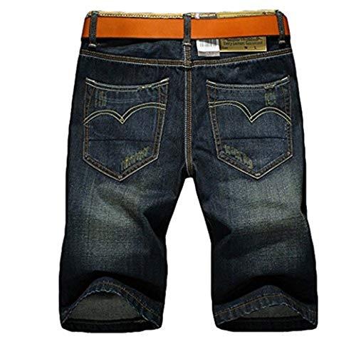 Saoye Estivi Pantaloni Pantaloncini Fashion Giovane Qualità Corti Jeans Uomo Distrutti Miscela Di Alta Fori Cotone 1 Da f4fwr