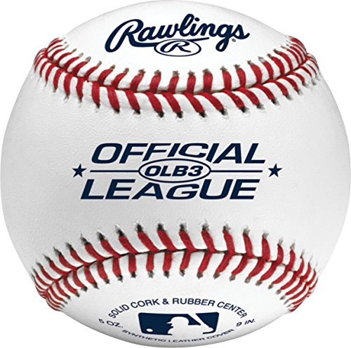 Rawlings Official League Recreational Bucket, Bucket with 24 Baseballs, OLB3BUCK24