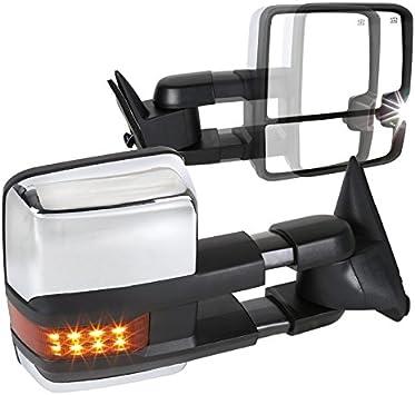 88-98 Chevy GMC C10 C//K Tahoe Suburban Power Side Tow Mirrors Power+LED Signal