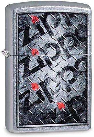 Zippo Street Chrome Diamond Plate Zippo Design Lighter [並行輸入品]