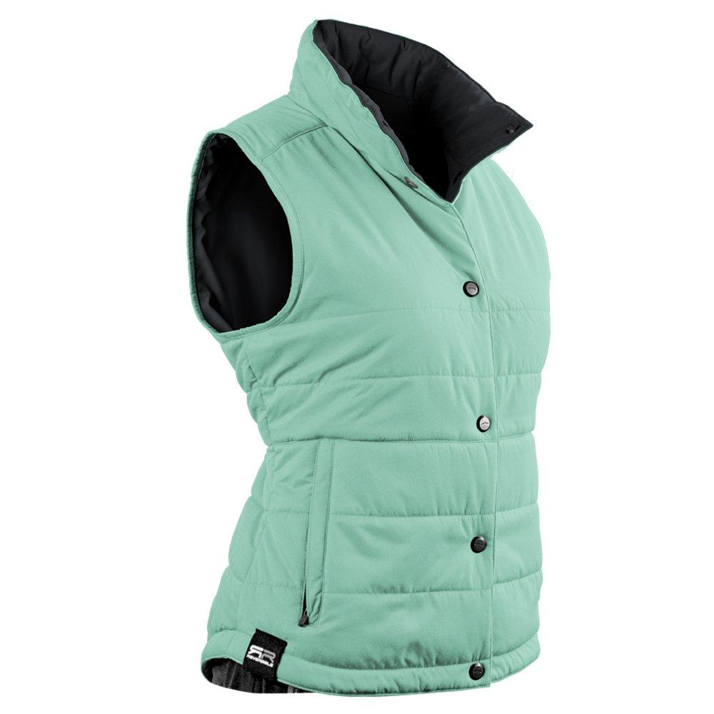 Sun Mountain Alpine Golf Vest 2016 Ladies Ice/Green/Steel Large