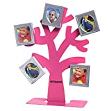 Polaroid Family Tree Frame – Tree with Stand & Five Magnetic Mini-Picture Frames (Pink) For Zink 2x3 Photo Paper Pojects (Snap, Zip, Z2300)