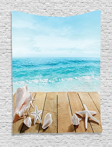 Seashells Tapestry Ambesonne Boardwald Vacations