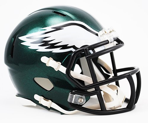 (Philadelphia Eagles Riddell Revolution Speed Mini Football Helmet)