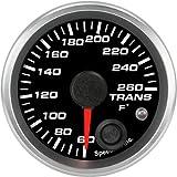 Speedhut GR20-TT04 Trans Temp Gauge 60-260F (With Warning LED), 2-1/16''