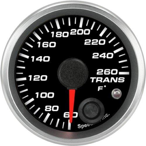 Speedhut GR20-TT04 Trans Temp Gauge 60-260F (With Warning LED), 2-1/16'' by SpeedHut