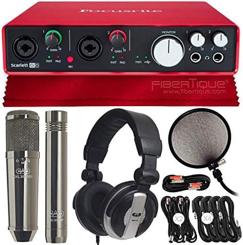 Focusrite Scarlett 6i6 Interfaz de audio USB (2nd Gen) con CAD GXL3000BPSP micrófonos y auriculares Studio Pack Deluxe Bundle: Amazon.es: Instrumentos musicales