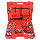 FreeTec 21-Piece Radiator Pump Pressure Leak Tester Checker Tool Kit Aluminum Adapters Set