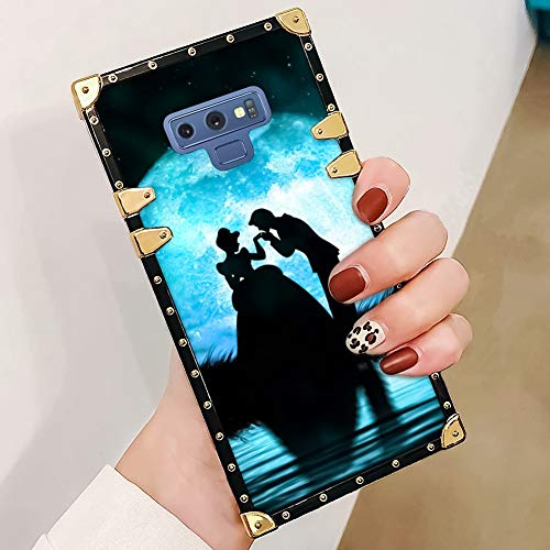 DISNEY COLLECTION Cinderella and Prince Phone case Compatible with Samsung Galaxy Note 9 Reinforced Edges Luxury Cool Cute Cartoon Bumper Shock Absorption Cover ()