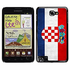 Shell-Star ( National Flag Series-Croatia ) Snap On Hard Protective Case For Galaxy Note / i717 / T879 / N7000 / i9220