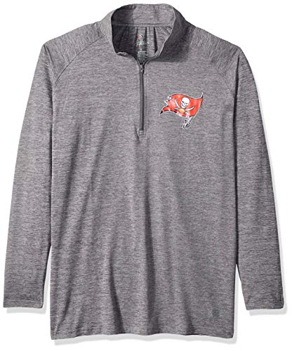 Zubaz NFL Tampa Bay Buccaneers Women's 1/4 Zip Sweatshirt, Gray, X-Large