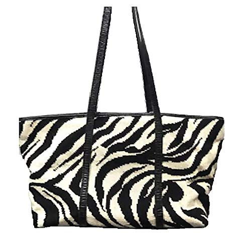 Clever Carriage Company Hand Needlepoint Zebra Shopper