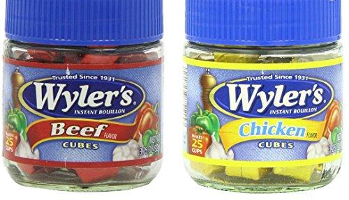 Wyler's Bouillon Cubes Combo Pack - One Beef Flavor 3.25 oz. & One Chicken Flavor 3.25 oz. ()