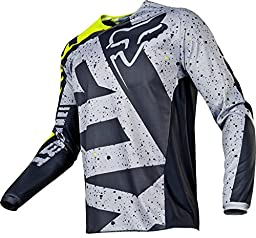 2017 Fox Racing 180 Nirv Jersey-Grey/Yellow-M