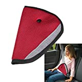 Edtoy Car Seatbelt Adjuster Safety Cover Harness Pad Seat Belt Strap Adapters (Red)