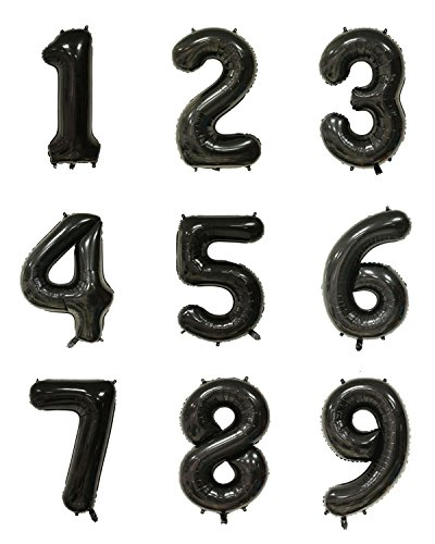 40 Inch Black Digital Helium Foil Birthday Party Balloons Number 3