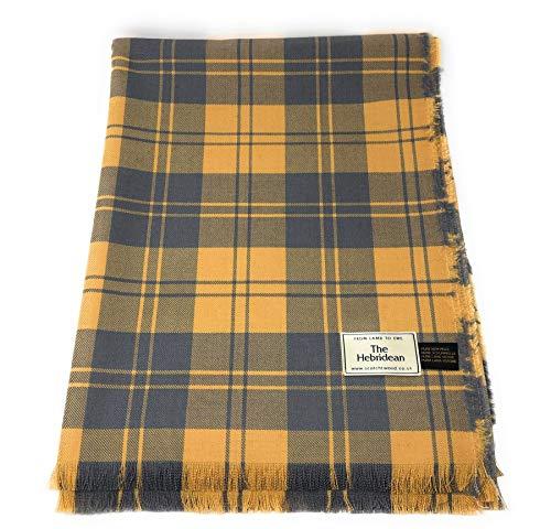 Scotch Tweed Pure Wool Tartan Blanket/Bedspread/Throw Erskine Agate Plaid Design (Tweed Pure Wool)