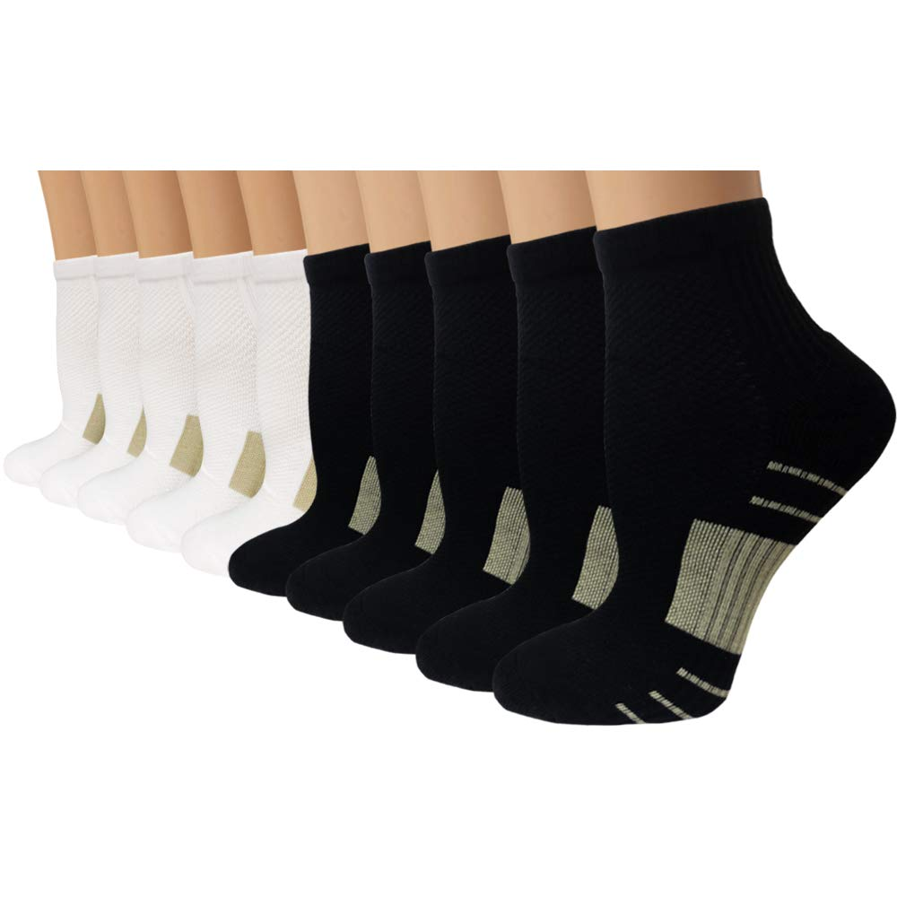 Iseasoo Copper Compression Running Socks for Men & Women-5/10 Pairs(S/M by Iseasoo