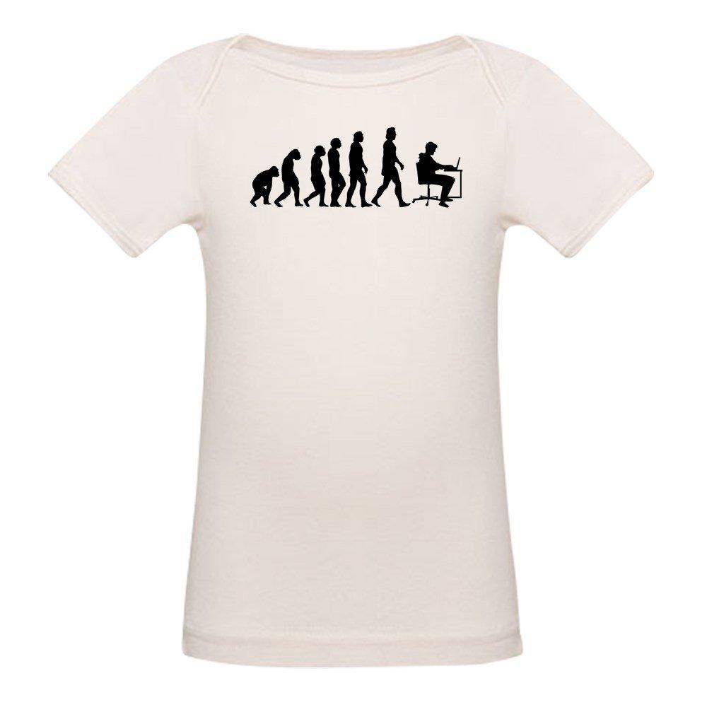 CafePress Office Evolution T-Shirt Organic Baby T